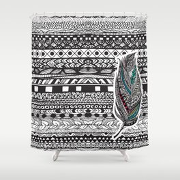 Aztec Feather. Shower Curtain