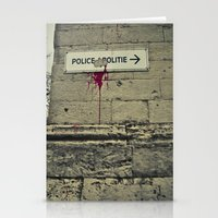 police Stationery Cards featuring Police by GautCheezzz