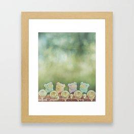 Piggies on a flute  Framed Art Print