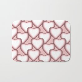 Hearts with lace trim. Bath Mat