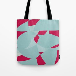 Dusty Pale Blue and Vibrant Magenta Abstract Graphic Tote Bag