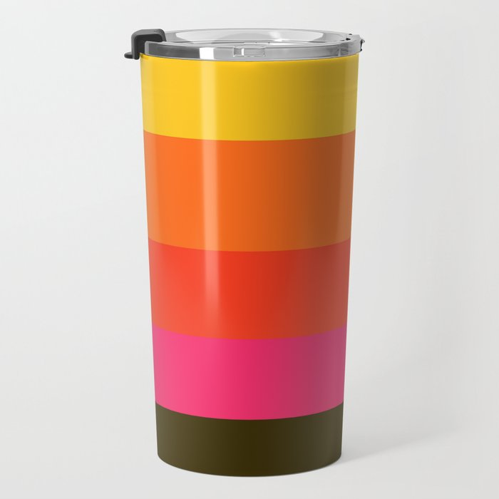 Earth and Summer Sky - Color Strips - Colors of Travel Travel Mug