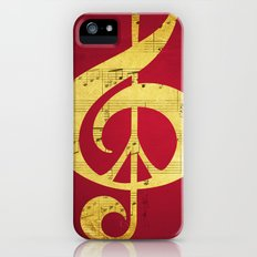 Music & Peace Sheet Music iPhone (5, 5s) Slim Case
