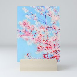 Cherry pink blossoms watercolor painting #16 Mini Art Print