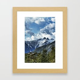 Grouse Mountain in Vancouver BC Canada Framed Art Print
