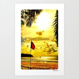 Red Flag, Thailand Art Print