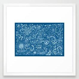 Secret ocean Framed Art Print