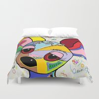 chihuahua Duvet Covers featuring Chihuahua by EloiseArt