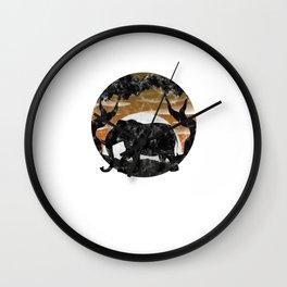 Nature Elephant Wall Clock