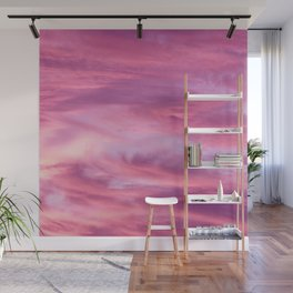 Pink Lavender Clouds Wall Mural