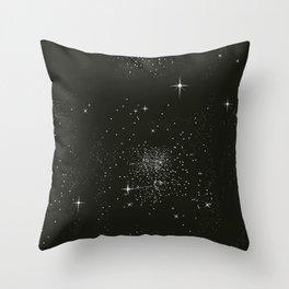 Dark night and stars Throw Pillow