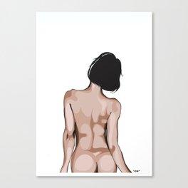 Behind a girl Canvas Print