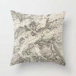 Vintage Map of Boston Harbor (1903) Throw Pillow