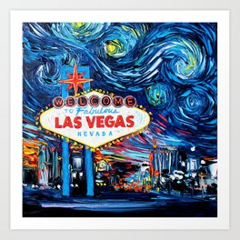 van Gogh Never Saw Vegas Art Print