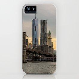 Freedom Tower and Brooklyn Bridge iPhone Case