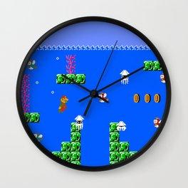Mario Waterworld Wall Clock