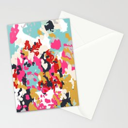 Inez - Modern Abstract painting in bold colors for trendy modern feminine gifts ideas  Stationery Cards