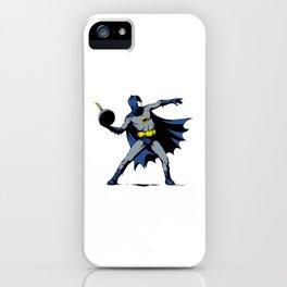 Bat Throwing Bomb iPhone Case