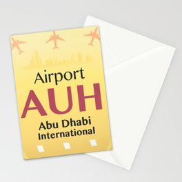 AUH Abu Dhabi airport code Stationery Cards