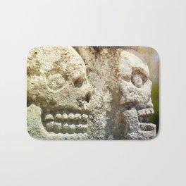 Mayan Stone Skulls Bath Mat