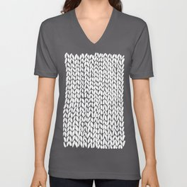 Hand Knitted Loops Unisex V-Neck