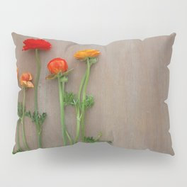 Orange Ranunculus flowers Pillow Sham