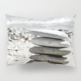 Balancing Stones On The Beach Pillow Sham