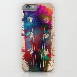guitar art 5 #guitar #music iPhone Case