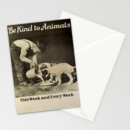 Vintage Be Kind To Animals Advert - Black and White Stationery Cards