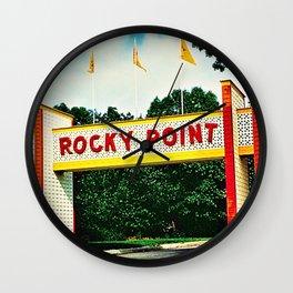 Rocky Point Amusement Park Photograph #2 – Warwick, Rhode Island Wall Clock