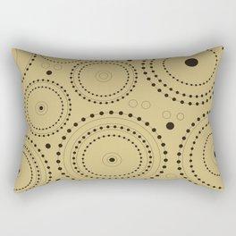 Circles in Circles Design Black on Light Gold Rectangular Pillow