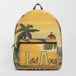 Los Angeles Vintage Poster - Fly TWA Backpack
