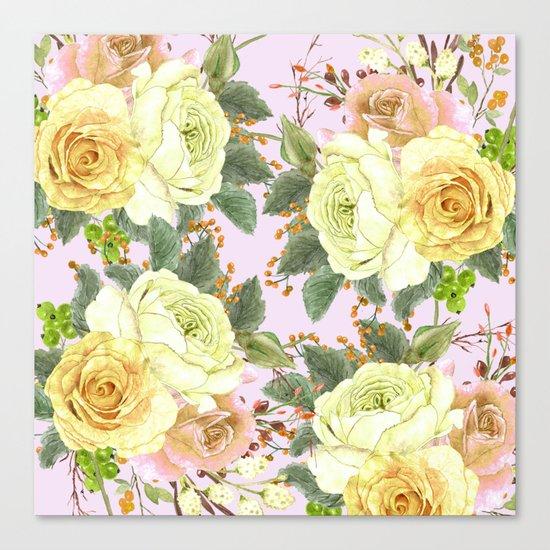 Watercolor Roses #4 Canvas Print