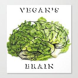 Vegan's brain Canvas Print