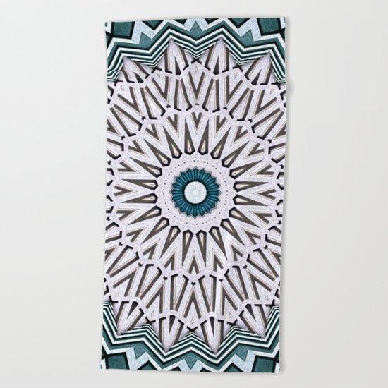 Turquoise Kaleidoscope Beach Towel