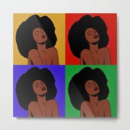 Natural Afro Pop Art Metal Print