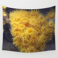 coral Wall Tapestries featuring Coral by Deborah Janke