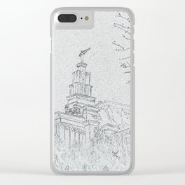 San Antonio Texas LDS Temple Clear iPhone Case
