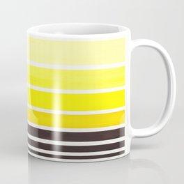 Yellow Minimalist Watercolor Mid Century Staggered Stripes Rothko Color Block Geometric Art Coffee Mug