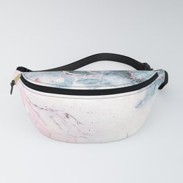 Blue and Pink Marble Fanny Pack