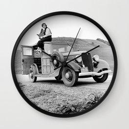 Dorothea Lange - American photographer Wall Clock