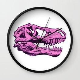 Dinosaur skull (pink) Wall Clock