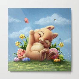 A little Easter bunny Metal Print