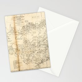 Map of China Chinese-Tartary & Tibet (1834) Stationery Cards