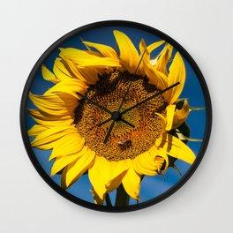 Sunflower in LOVE Wall Clock