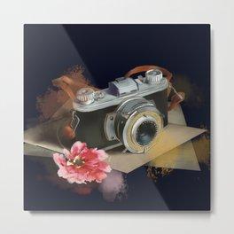 romantic photo camera Metal Print
