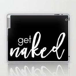 get naked // white on black Laptop & iPad Skin