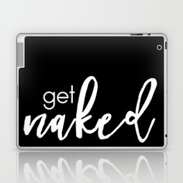get naked // white on black Laptop & iPad Skin