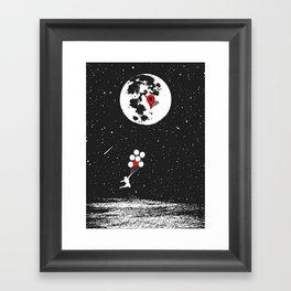 Destination Moon Framed Art Print