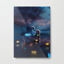 memories boat Metal Print
